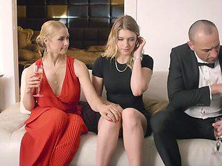 Natural tits pornstars fucked together - Sarah Vandella, Giselle Palmer