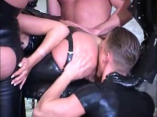 Great hardcore fetish party in latex