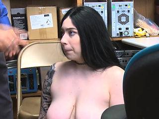 Curvy big tit punished for stealing underwear