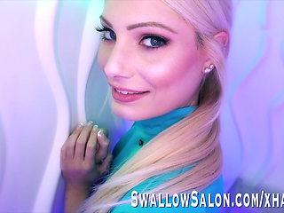 Blue Eyed Blonde Nella Jones Downs a Cock