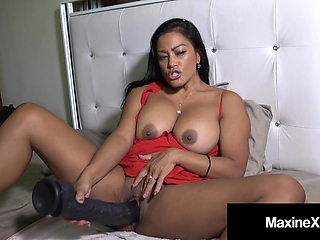Crazy Cambodian Cougar Maxine X Does 24 Inch Dildo & Machine