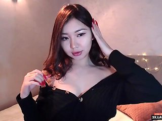 Girl wearing black dress with sexy lips