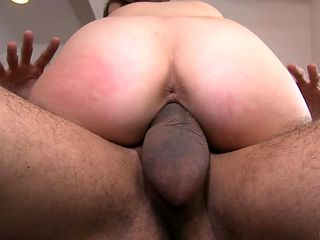 Teen gal fucks like there's no tomorrow in steamy interracial action