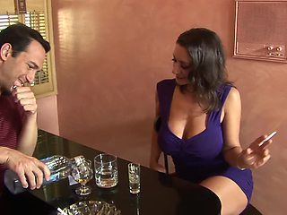 Busty cheating wife Persia Monir flashes her tits and gets fucked