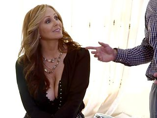 Sean Michaels uses his hard dick to bring blowjob addict Brunette Julia Ann to the edge of nirvana