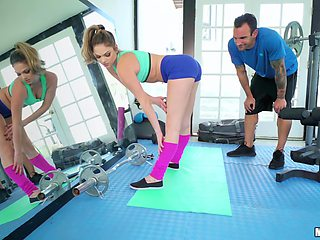 Hot girl Athena Farris enjoys sex at the gym with her horny trainer
