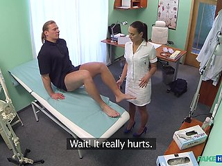 Patient with big dick gets full body exam by hot nurse Mea Melone