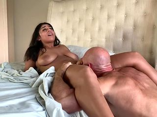 Teen w/ Huge Natural Tits Eats Ass, Cums All Over Dick and Gets Creampied!
