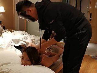 Chinese girl hogtied