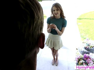 Teen Ellie Eilish licked and pussy rammed by a friends father
