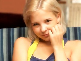 Petite 18yo blondie masturbating herself