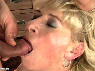 Mature is never enough and takes dick in her loose back yard over and over again