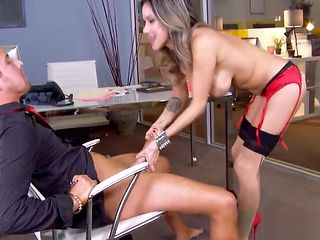 Slut in High Heels wants Cock at the Office