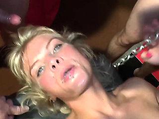 german hardcore creampie cum gangbang party