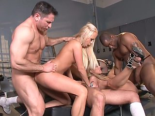 Amazing pornstars Amy Brooke, Bobbi Starr and Carla Cox in horny blonde, anal xxx clip