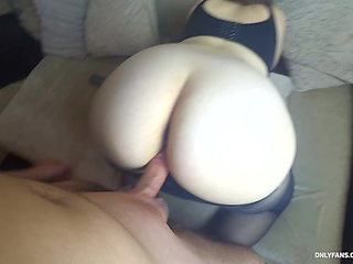 He Fucks a Perfect Big Ass in Pantyhose