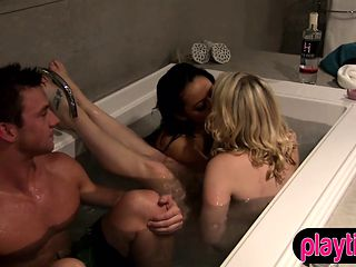 Reality show contestant chick first time foursome sex