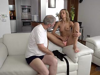 OLD4K. Young wife Jenny Smart enjoys pleasurable morning with old husband