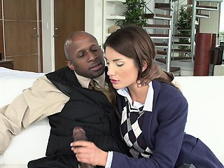 August Ames with Perfect Tits Loves Black Cock