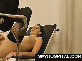 Medical exam hidden camera in gyno clinic