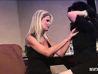 Anastasia Pierce and Bridgett Lee are lipstick lesbian MILF