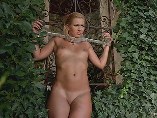 Submissive young blonde is ready to receive her punishment