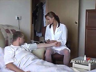 Student fucking nurse gets rough sex