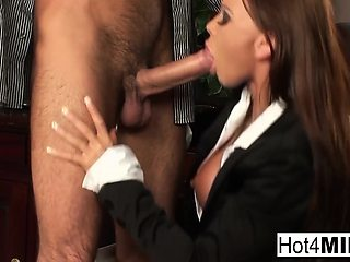 Busty secretary does anal in the office!