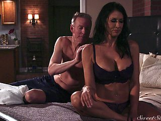 Erotic love making in the evening with brunette Reagan Foxx