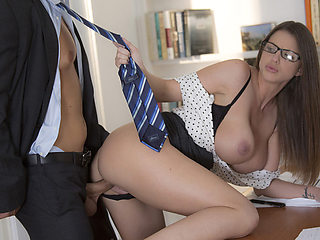 Secretary Brooklyns executive office sex with the boss cock