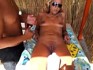 Delightful blonde milf with lovely tits gets a hot massage
