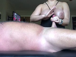 Jerking off daddys little cock