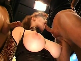 Ravishing darlings agreeable studs with soaked blowjobs