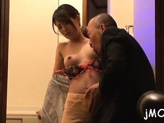 Sexy mature oriental Erika Masuwaka gets licked and teased