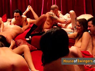 Swingers have a fun rolling the dice.