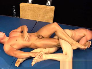 Paul Hunter and Dave Cargo Wrestling