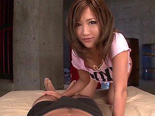 Amazing Japanese girl Aika in Hottest JAV uncensored Handjobs clip