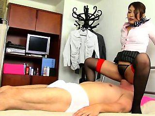 Kinky guys invite sensual ladies to fulfill their anal needs