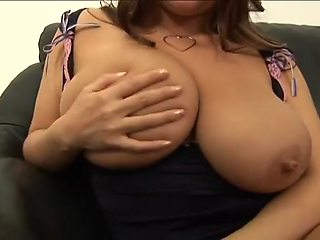 Busty Brunette Brandy Taylor Gets Oiled and Fucked