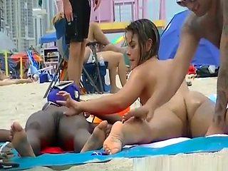Nudist ebony and big tits nudist at beach