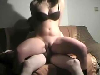 Chubby Ex Girlfriend Blowjob and Fucking on the couch