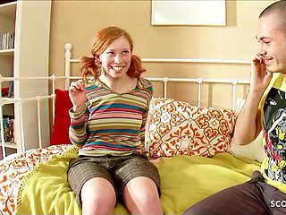 TINY GINGER TEEN 18 - RAW DEFLORATION SEX WITH PUMPED PUSSY
