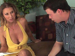 Blonde big tits and big butt milf fucks great 2