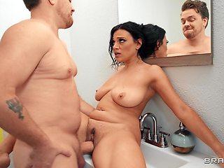 Big butt Latina Mona Azar gives head and gets fucked balls deep