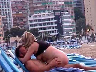 Caught fucking on a Spanish beach