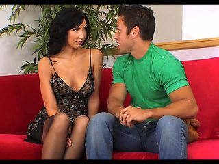 Gorgeous brunette cougar with her junior lover