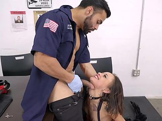 A brunette that loves sucking is getting penetrated on the desk