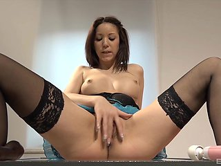 Sweetie goes very slutty during her sensual solo play