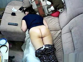 Hidden cam in ceiling fan caught my mom masturbation