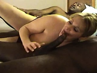 Luscious mature wife engages in a wild interracial threesome